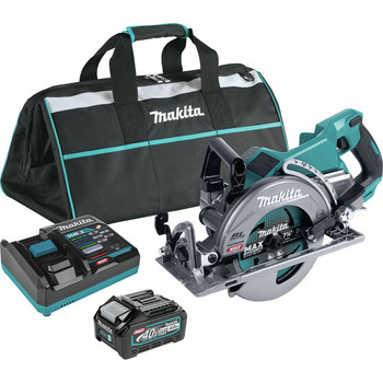 Makita GSR01M1 40V Max XGT Brushless Lithium-Ion 7-1/4 in. Cordless Rear Handle Circular Saw Kit (4 Ah)