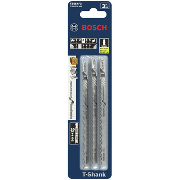 Bosch T345XF3 5-1/4 in. 5 - 10 TPI T-Shank Jigsaw Blade (3-Pack) image number 2