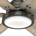 Hunter 59461 60 in. Warrant Ceiling Fan with Wall Control and LED Light Kit (Noble Bronze) image number 5