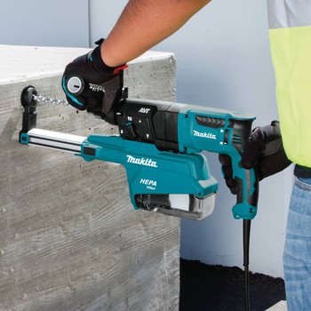 Makita HR2651 7 Amp 1 in. Pistol-Grip Rotary Hammer with HEPA Extractor image number 7