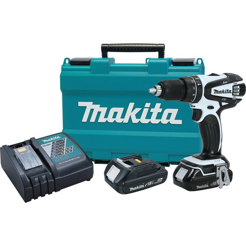Makita XPH01RW 18V LXT 2.0 Ah Lithium-Ion 1/2 in. Hammer Drill Driver Kit