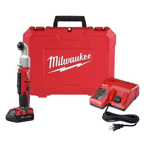 Factory Reconditioned Milwaukee 2667-81CT M18 Cordless Lithium-Ion 1/4 in. 2-Speed Right Angle Impact Driver Kit