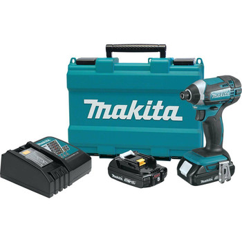 Factory Reconditioned Makita XDT11R-R 18V Compact Lithium-Ion Cordless Impact Driver Kit