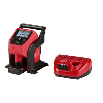 Milwaukee 2475-21XC M12 Compact Inflator Kit (4 Ah)