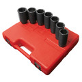 Sunex 2839 7-Piece 1/2 in. Drive Metric Deep Spindle Nut Impact Socket Set