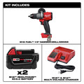 Milwaukee 2804-22 M18 FUEL Lithium-Ion 1/2 in. Cordless Hammer Drill Kit (5 Ah) image number 1
