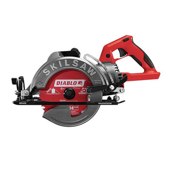 SKILSAW SPTH77M-02 TRUEHVL 7-1/4 in.  Cordless Worm Drive Saw with 24-Tooth Diablo Carbide Blade (Tool Only)