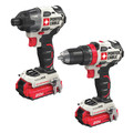 Porter-Cable PCCK619L2 20V MAX Lithium-Ion Brushless Drill/Impact 2 Kit
