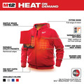 Milwaukee 302R-20L M12 12V Li-Ion Heated Hoodie (Jacket Only) - Large image number 3