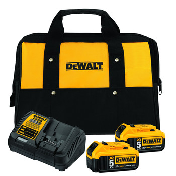 Dewalt DCB205-2CK 20V MAX 5 Ah Lithium-Ion Battery (2-Pack) and Charger Starter Kit