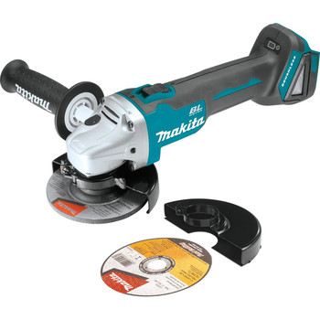Makita XAG04Z 18V LXT Lithium-Ion Brushless Cordless 4-1/2 / 5 in. Cut-Off/Angle Grinder, (Tool Only)