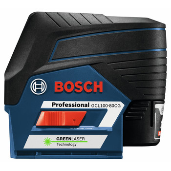 Bosch GCL100-80CG 12V Green-Beam Cross-Line Laser with Plumb Points image number 5