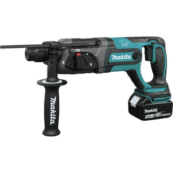 Makita XRH04T 18V LXT Cordless Lithium-Ion SDS-Plus 7/18 in. Rotary Hammer Kit image number 2