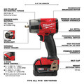 Milwaukee 2960-22 M18 FUEL Lithium-Ion Brushless Mid-Torque 3/8 in. Cordless Impact Wrench Kit with Friction Ring (5 Ah) image number 7