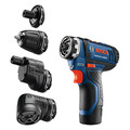 Bosch GSR12V-140FCB22 12V Max Lithium-Ion FlexiClick 5-in-1 1/4 in. Cordless Drill Driver System Kit (2 Ah) image number 1