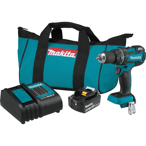 Makita XFD061 18V LXT Lithium-Ion Brushless Compact 1/2 in. Cordless Drill Driver Kit (3 Ah) image number 0