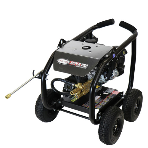 Simpson 65201 Super Pro 3600 PSI 2.5 GPM Direct Drive Small Roll Cage Professional Gas Pressure Washer with AAA Pump image number 0