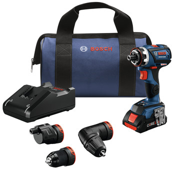 Bosch GSR18V-535FCB15 18V EC Brushless Connected-Ready Flexiclick 5-In-1 Cordless Drill Driver System Kit (4 Ah)