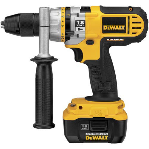 Factory Reconditioned Dewalt DC927KLR 18V Cordless NANO Lithium-Ion 1/2 in. Hammer Drill Kit