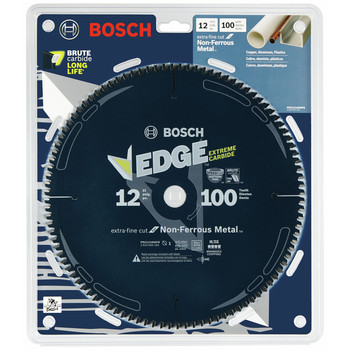 Bosch PRO12100NFB 12 in. 100-Tooth Non-Ferrous Metal Cutting Blade image number 1