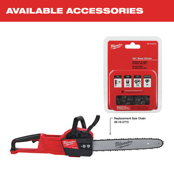Milwaukee 2727-21HD M18 FUEL 16 in. Chainsaw Kit image number 18