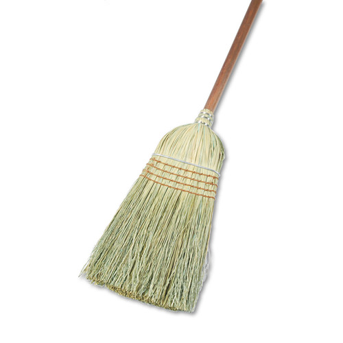Boardwalk BWK932YCT Warehouse Broom, Corn Fiber Bristles, 42-in Wood Handle, Natural, 12/Carton
