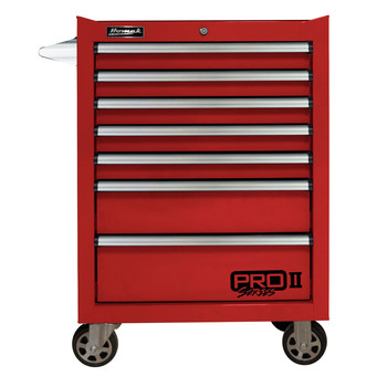 Homak RD04027702 27 in. Pro 2 7-Drawer Roller Cabinet (Red)