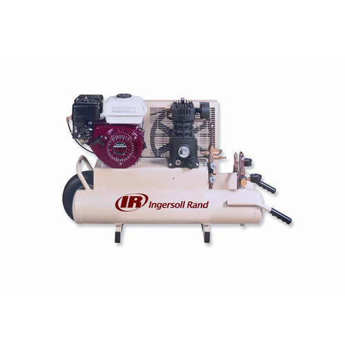 Ingersoll Rand SS3J5.5GH-WB 5.5 HP 8 Gallon Oiled Gas Twin Pontoon Wheelbarrow Honda Compressor