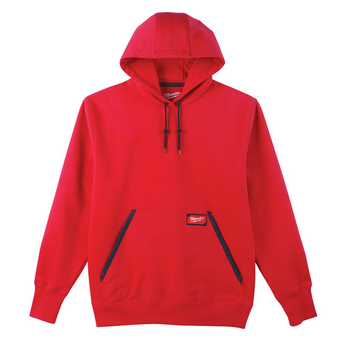 Milwaukee 350R-S Heavy Duty Pullover Hoodie - Red, Small image number 0
