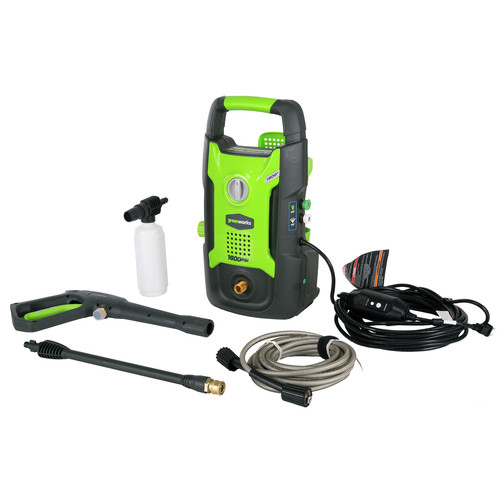 Greenworks 5101802 GPW1602 13 Amp/1600 PSI/1.2 GPM Electric Pressure Washer