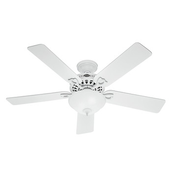 Hunter 53059 52 in. Astoria White Ceiling Fan with LED