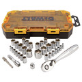 Dewalt DWMT73804 1/4 in. & 3/8 in. Drive Socket Set (34-piece) image number 1