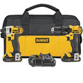 Factory Reconditioned Dewalt DCK280C2R 20V MAX 1.5 Ah Cordless Lithium-Ion 1/2 in. Compact Drill Driver and Impact Driver Combo Kit