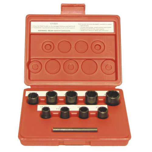 LTI Tools 4501 9 pc. 3/8 in. Dr. Twist Socket Fastener Removal System