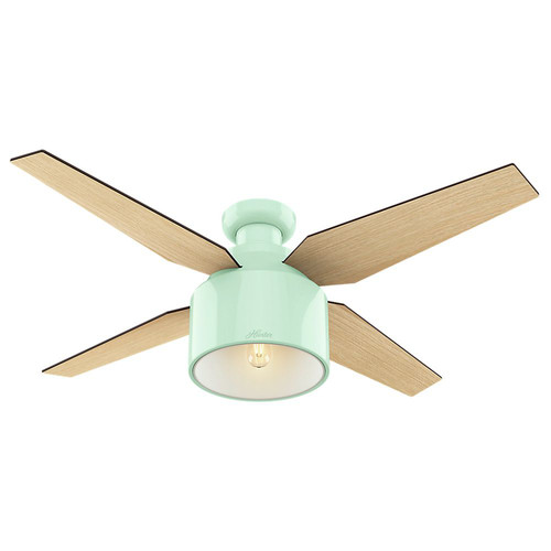 Hunter 59260 52 in. Cranbrook Low Profile White Ceiling Fan