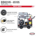 Simpson 65105 Big Brute 4000 PSI 4.0 GPM Hot Water Pressure Washer Powered by VANGUARD image number 2