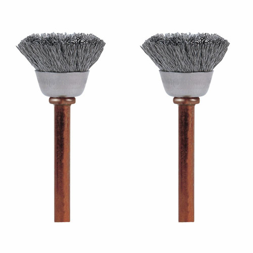 Dremel 531-02 1/2 in. Stainless Steel Brushes (2-Pack)