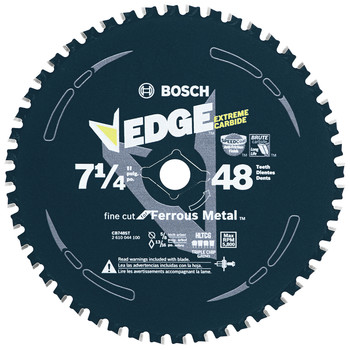 Bosch CB748ST 7-1/4 in. 48-Tooth Metal Cutting Circular Saw Blade image number 0