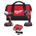 Milwaukee 2693-22 M18 18V Cordless Lithium-Ion 3/8 in. Impact Driver & LED Work Light Combo Kit