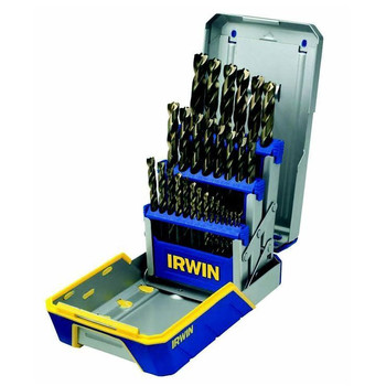 Irwin Hanson 3018006B 29-Piece Turbomax Metal Index Drill Bit Set