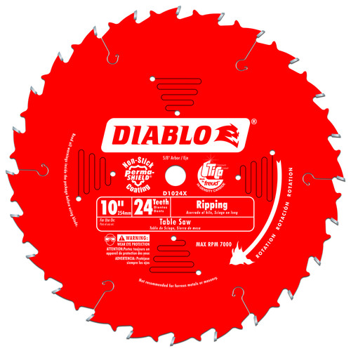 Diablo D1024X 10 in. 24 Tooth Ripping Saw Blade
