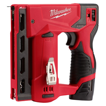 Milwaukee 2447-21 M12 3/8 in. Crown Stapler Kit image number 1