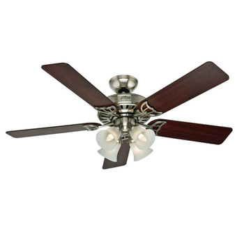 Hunter 53064 52 in. Studio Series Brushed Nickel Ceiling Fan with Light