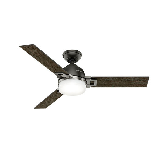 Hunter 59219 48 in. Leoni Noble Bronze and Brushed Nickel Ceiling Fan with Light and Remote