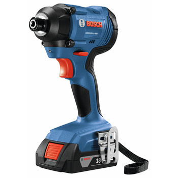 Bosch GXL18V-26B22 18V 2-Tool Combo Kit with 1/2 In. Compact Drill/Driver and 1/4 In. Hex Impact Driver image number 1