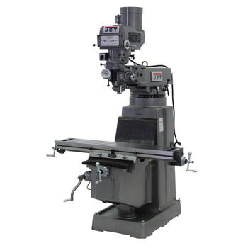JET JTM-1050 230/460V Variable Speed Milling Machine with Newall DP700 3-Axis (Knee) DRO and X-Axis Powerfeed