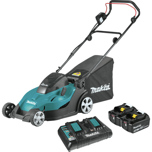 Makita XML02PT 18V X2 (36V) LXT 5 Ah Lithium-Ion 17 in. Lawn Mower Kit image number 0