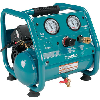 Factory Reconditioned Makita AC001-R 0.6 HP 1 Gallon Oil-Free Hand Carry Air Compressor