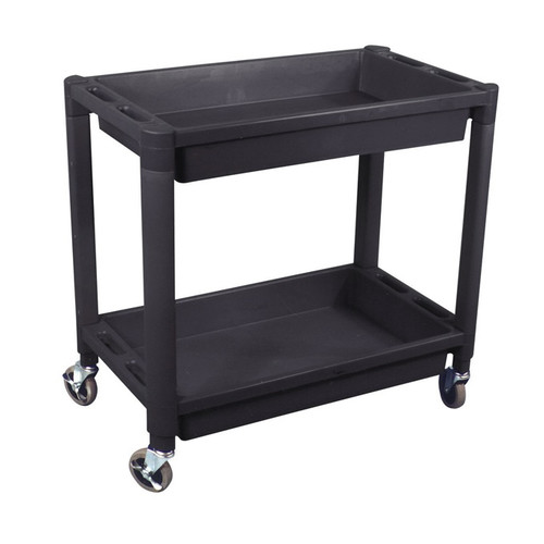 ATD 7016 2-Shelf Heavy-Duty Plastic Utility Cart