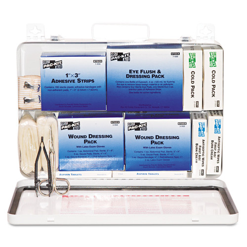 Pac-Kit 6450 50-Person Steel Case Industrial Weatherproof First Aid Kit image number 0